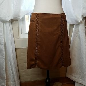 Cato Faux Suede Western Skirt
